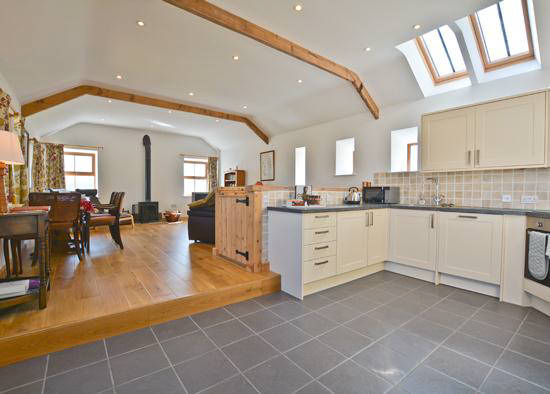 Super kitchen area at Curlew Cottage self catering holiday cottage accommodation near Hexham and Hadrian's Wall Northumberland North East England
